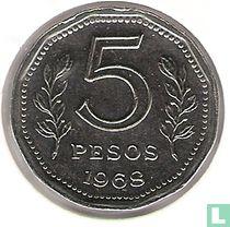 Argentinië 5 pesos 1968