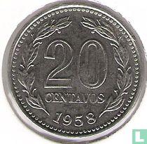 Argentinië 20 centavos 1958