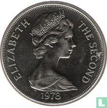 "Ascension 1 crown 1978 (koper-nikkel) ""25th Anniversary of the Coronation of Queen Elizabeth II"""