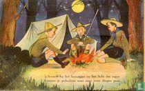 's Avonds bij het kampvuur .....