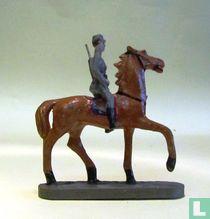 German cavalryman on horseback