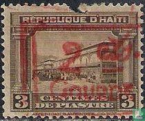 Markt Port au Prince met opdruk