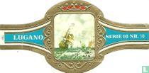 """De Ruyter op het oorlogsschip """" Hollandia"""""""