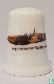 Supermarine Spitfire MK 1 bedrukt op een porselein vingerhoedje