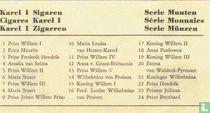 Beschrijvingskaart - Serie Munten