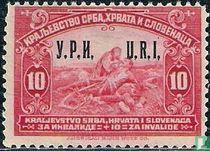 Zegel uit 1921 met opdruk