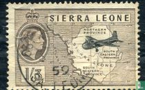 Kaart van Sierre Leone en Transportvliegtuig