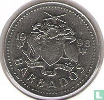 Barbados 25 cents 1998