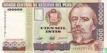 Peru 100.000 Intis