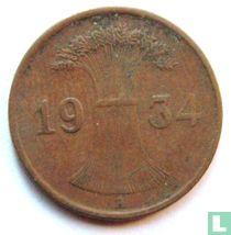 Duitse Rijk 1 reichspfennig 1934 (A)
