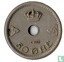 Norwegen 50 Öre 1928