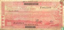 Burundi 50 Francs ND (1966)