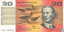 Australië 20 Dollars ND (1989)