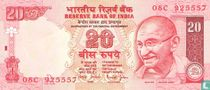 India 20 Rupees 2002 (A)