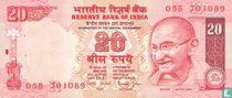 India 20 Rupees 2002 (R)