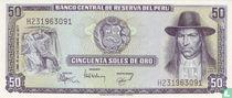 Peru 50 Soles de Oro