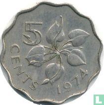 Swaziland 5 cents 1974