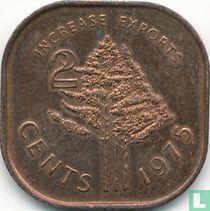 """Swaziland 2 cents 1975 """"FAO"""""""