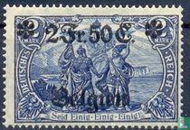 Duitse zegels met opdruk 'Belgien'