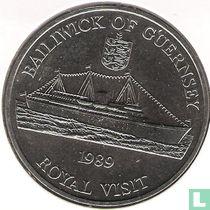 """Guernsey 2 pounds 1989 """"Royal Visit"""""""