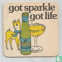 Got sparkle got life There's one drink