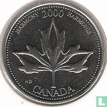 """Canada 25 cents 2000 """"Harmony"""""""