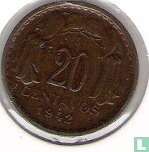 Chili 20 centavos 1942