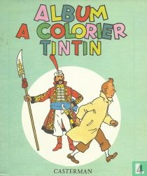 Album a colorier Tintin 4