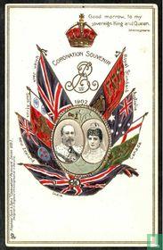 Coronation Souvenir 1902 - King Edward VII and Queen Alexandra