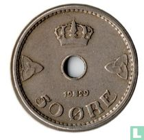 Norwegen 50 Øre 1929