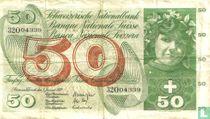 Switzerland 50 francs 1970