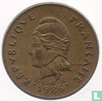 Frans-Polynesië 100 francs 1986