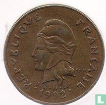 Frans-Polynesië 100 francs 1992
