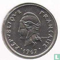 Frans-Polynesië 10 francs 1967