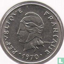 Frans-Polynesië 20 francs 1970