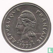 Frans-Polynesië 10 francs 1973