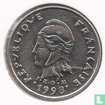 Frans-Polynesië 10 francs 1998