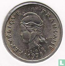 Frans-Polynesië 10 francs 1975