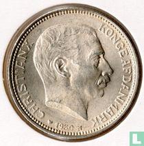 """Denemarken 2 kroner 1930 """"King Christian X's 60th birthday"""""""
