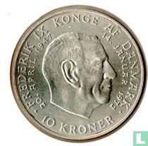"Denemarken 10 kroner 1972 ""Death of Frederik IX and accession of Margrethe II"""