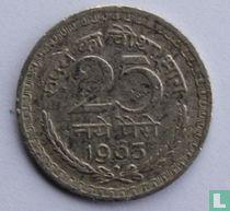 India 25 naye paise 1963 (Bombay)