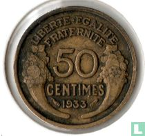 Frankrijk 50 centimes 1933 (open 9)