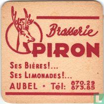 Brasserie Piron Ses bières!... Ses limonade!... / Bières d'Aubel,riende tel!