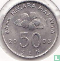 Maleisië 50 sen 2003