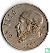 Mexico 1 peso 1981 (open 8)