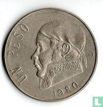 Mexico 1 peso 1980 (gesloten 8)