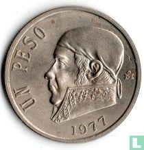 Mexico 1 peso 1977 (dikke datum)