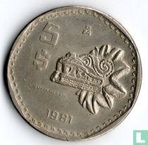 Mexico 5 pesos 1981