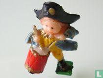 Junge mit Trommel und Hut