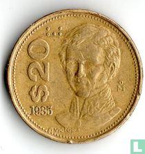 Mexico 20 pesos 1985 (smalle datum)